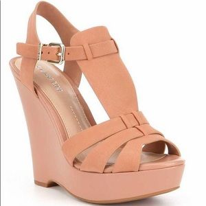 Gianni Bini Camel Cream Welton Wedge